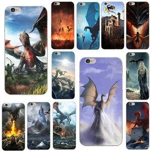 Силиконовый прозрачный мягкий ТПУ чехол для телефона iphone 8, 7, 6, 6S Plus, 5S, SE, 5, 5C, 4 4S, Fundas Games Dragon Knight Illustration