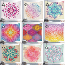 Indian Mandala Polyester Tapestry Wall Hanging Carpet Throw Yoga Mat Sandy Beach Throw Rug Blanket Mattress Sleeping Mat