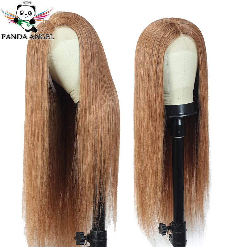 Panda 99J 27 30 Ombre Lace Front Human Hair Wigs For Black Women Remy 27 30 99J Brazilian 150% Density Straight Lace Front Wigs