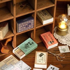 Ретро этикетка декоративные наклейки Скрапбукинг наклейка на спичечный коробок хлопья стационарный альбом офисные аксессуары товары для искусства