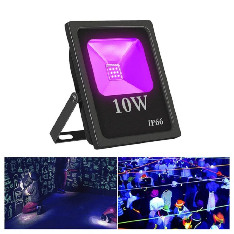 UV LED Floodlight 10W High Power Waterproof Ultra Violet Fluorescent Flood Light Stage Lamp for Bar Halloween Party|Floodlights| |  - title=