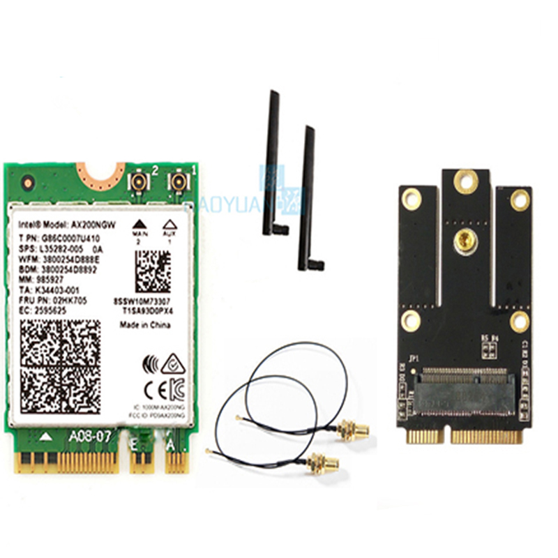 Dual Band 2400Mbps AX200NGW NGFF M.2 Bluetooth 5.0 Wifi Placa de Rede Sem Fio 2.4G/5G 802.11ac/ machado Para Intel AX200