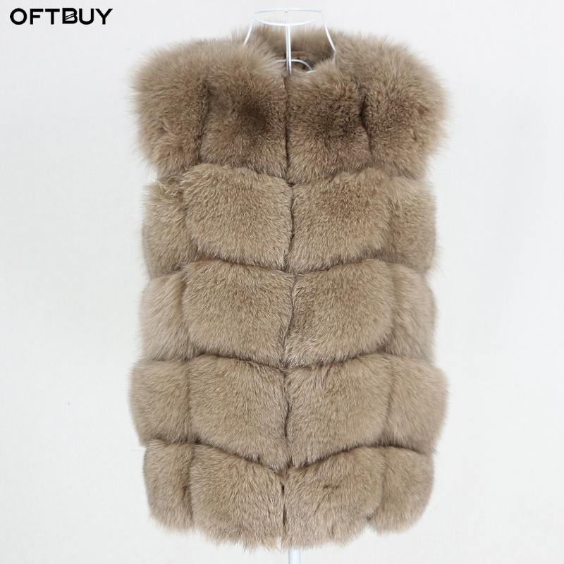 OFTBUY High Quality 2020 New Winter Jacket Women Real Fur Vest Coat Natural Big Fluffy Fox Fur Outerwear Streetwear Thick Warm|Real Fur| - AliExpress