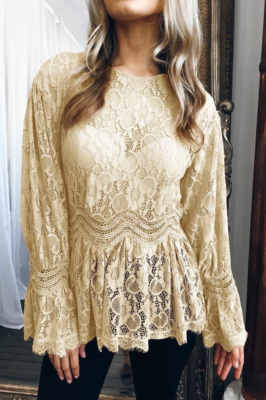 women blouse fashion 2020  long sleeve elegent sexy lace slim female ladies clothing womens top shirt top 90s