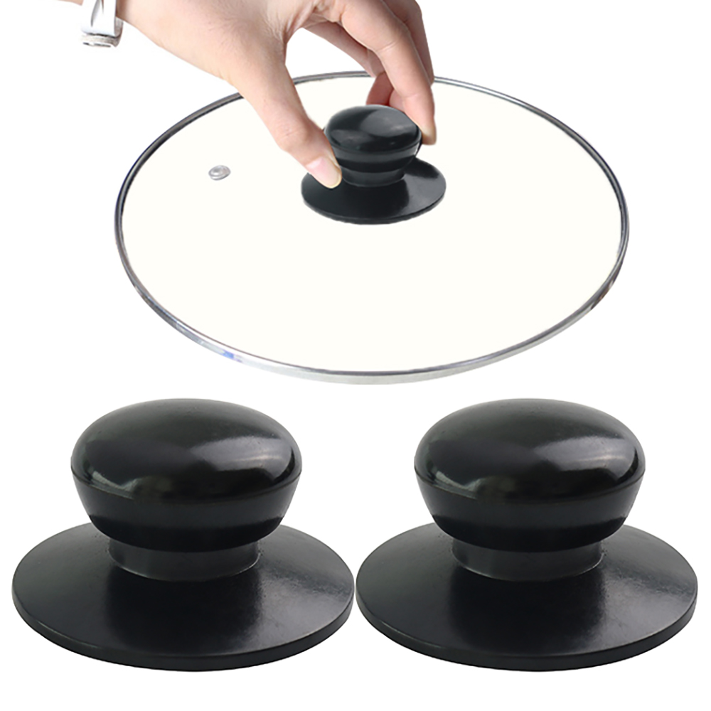 Ev ve Bahçe'ten Tencere Kolları ve Topuzları'de 1 adet kolları tava tencere kapağı su ısıtıcısı kapağı ocak mutfak aksesuarları plastik saplar sapanlar siyah yedek parça title=