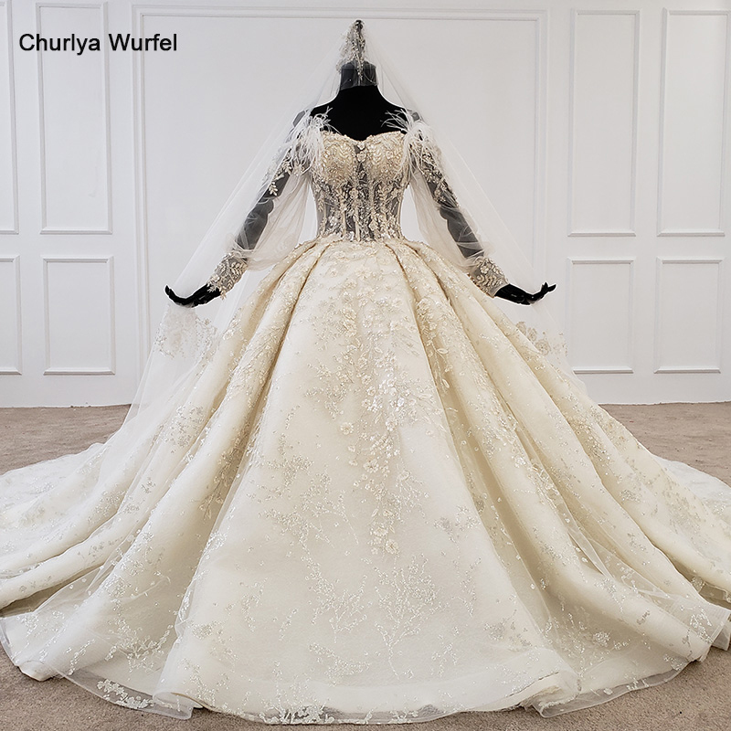 HTL1168 Wedding Dress 2020 Lace Off The Shoulder Applique Beading Crystal Pearl Lace Up Bohemian Wedding Dress Vestido De Noiva
