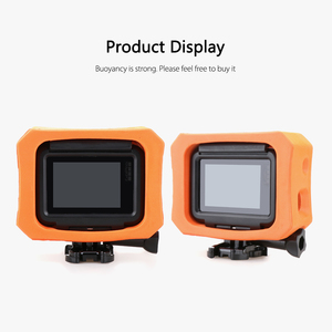 Image 5 - Vamson funda protectora para GoPro, funda flotante naranja para GoPro Hero 7 6 5 negro 7 plateado blanco, funda impermeable, accesorio para cámara