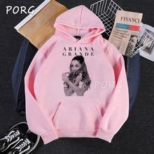 Ariana Grande White Pink Women Hoodies Gothic Punk Print Swe