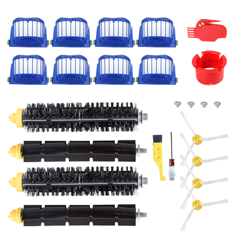Replacement Parts Kit For IRobot Roomba 600 Series 610 620 625 630 650 660 Vacuum Cleaner Beater Bristle Brush + Aero Vac Filter