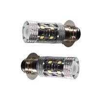 Pair 6000K LED HeadLights Bulb For Yamaha YFZ450R Rhino 700 Raptor YFM660 TRX