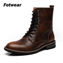 Men Leather Ankle Boots Autumn Winter Men's Boots Fashion Motorcycle Boots Outdoor Working Snow Boots Men leather casual shoes unisex leather boots fashion winter autumn motorcycle martin boots men casual ankle boots warm couple snow boots big size