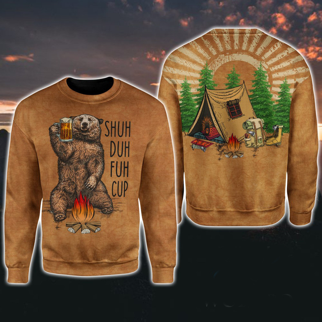Shuh Duh Fuh Cup Bear Campfire Camping 3D All Over Printed Shirt Hoodie 3
