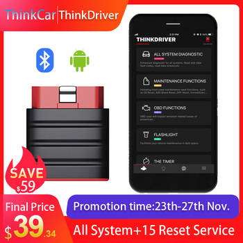 LAUNCH Thinkdriver Bluetooth OBD2 Scanner Automotive OBD 2 IOS Car Diagnostic Code Reader OBD Android Scanner PK Thinkdiag AP200 launch x431 crp123i obd obd2 coder reader scanner 4 system diagnostic obd 2 auto scanner car diagnostic tool vs crp123x crp123e