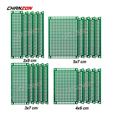 20 Pcs Doppelseitige PCB Board ( 2X8 3X7 4X6 5X7) verzinnt FR4 Prototyp Kit Gedruckt Universal Schaltung Perfboard für DIY Löten cheap CHANZON CN (Herkunft) der Regulierungssteller Through Holes Compatible FR-4 Presensitized with Arduino Kits Project 2*8cm 3*7cm 4*6cm 5*7cm ( 2X8 3X7 4X6 5X7 cm ) Empty Protoboard