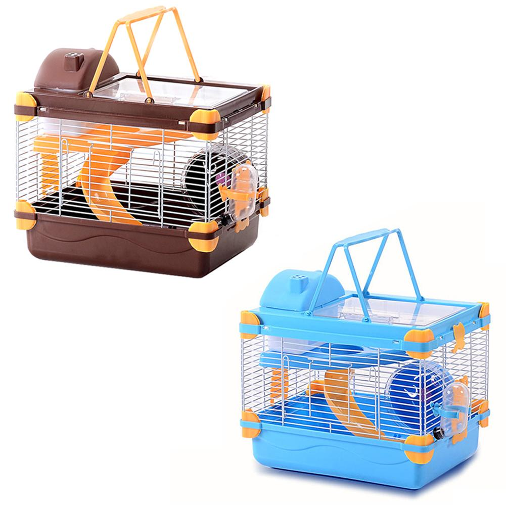 New Hamster Cage Transparent Skylight Double Dream Castle Luxury Mini Cages High Quality Small font b