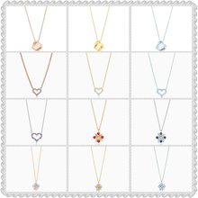 Original 1:1 S925 Sterling Silver Necklace,Heart-Shape Zircon Inlay,HighQuality 1:1 With Logo,Women Jewelry Birthday Gift цена 2017
