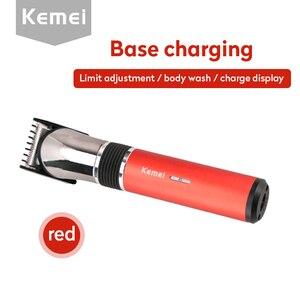 Image 2 - Kemei電気バリカンヘアトリマー洗える充電式カッターひげシェーバーかみそり男professsional理髪ツール