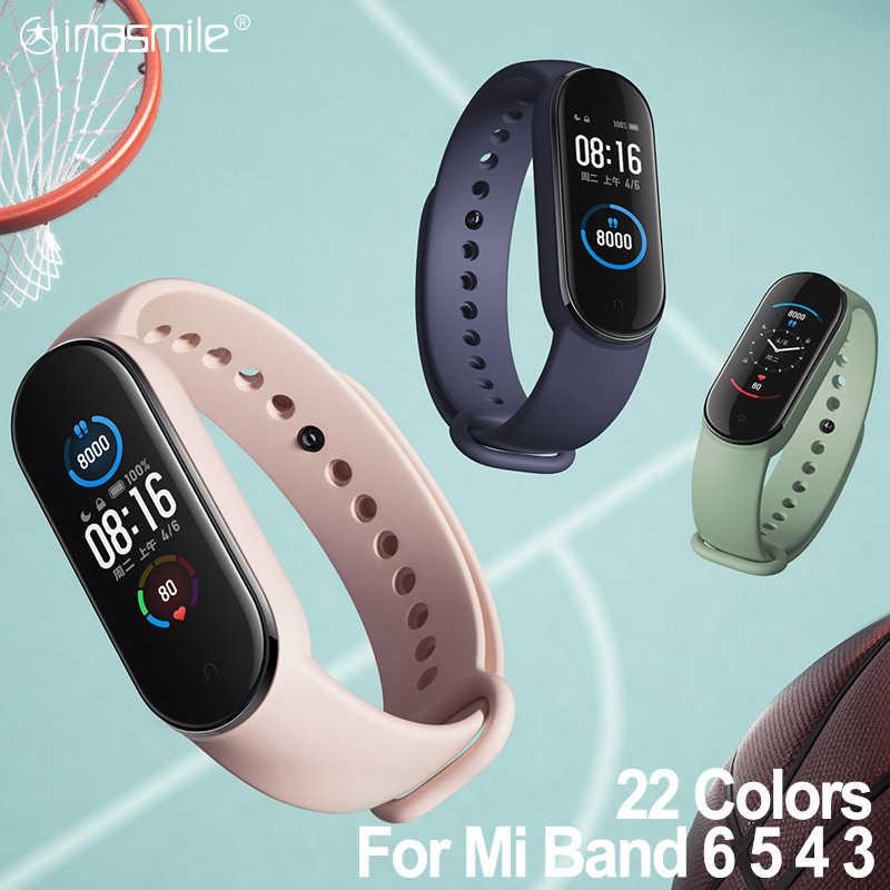 Amazing Strap For Xiaomi Mi Band 6 5 4 3 Bracelet Strap Correa For Xiao Miband 5 4 Strap Smart Watch Wrist For Mi Band 3 4 5 6 Smart Accessories Aliexpress