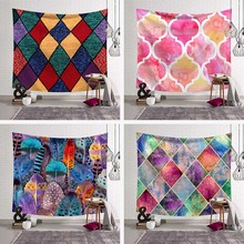 Leopard Pink Cute Beach Towel Polyester Blanket Yoga Mat Rug Shawl Throw Sheet Grid Clouds Colorful Square Tapestry Wall Hanging