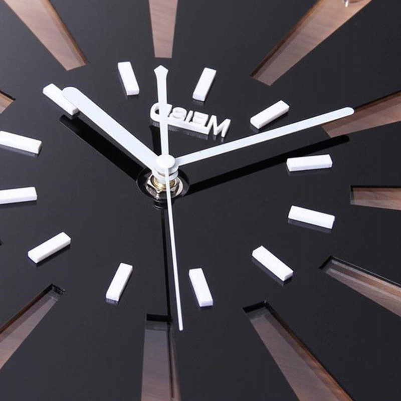 Купить с кэшбэком Silent Wall Clock Modern Design 3D Digital Quartz Decorative Clocks Acrylic Wall Stickers Living Room
