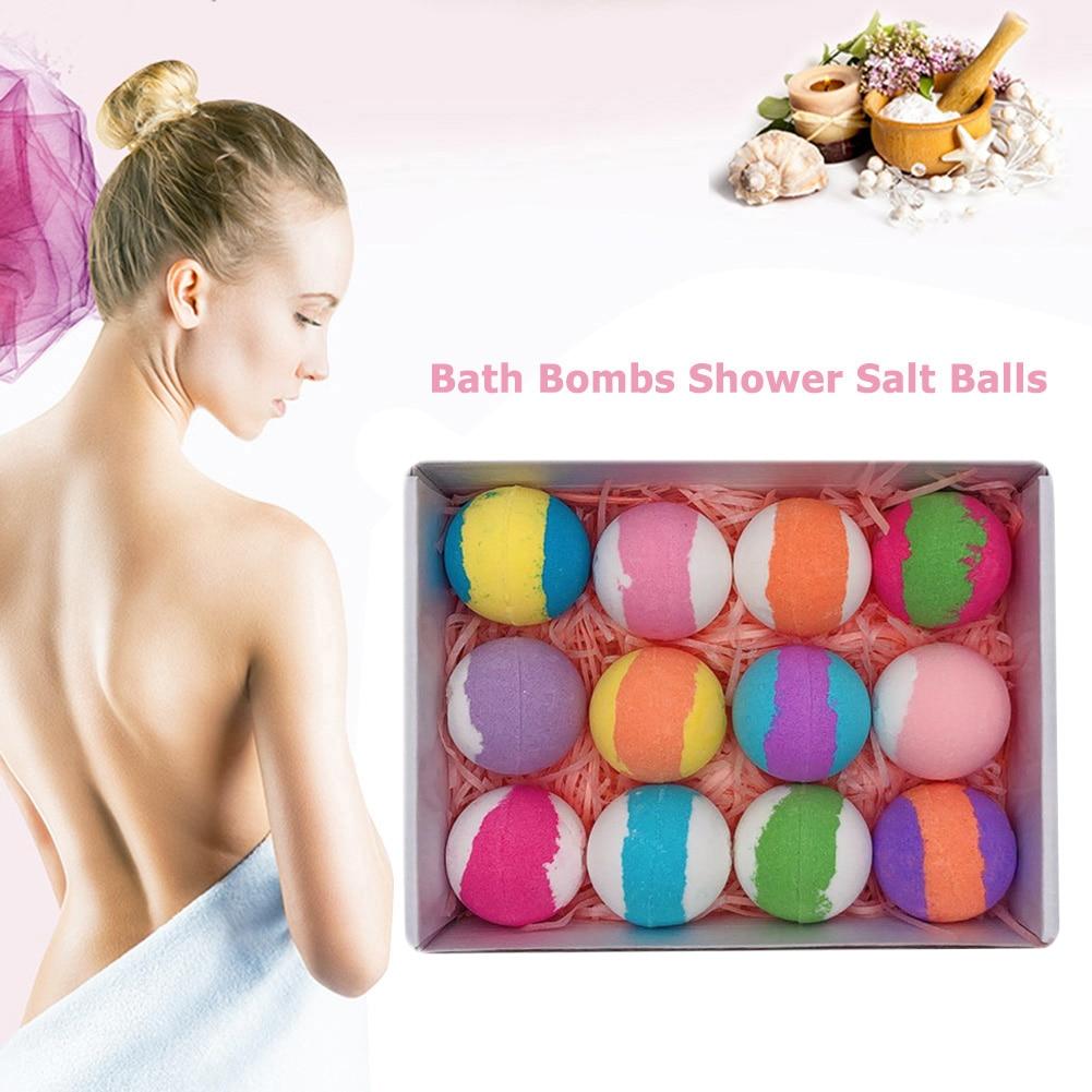 6/12pcs Bath Sea Salt Balls Scented Bubble Ball Kit Handmade Bath Bomb Skin Whitening Moisturizing Shower Bombs New Arrivals
