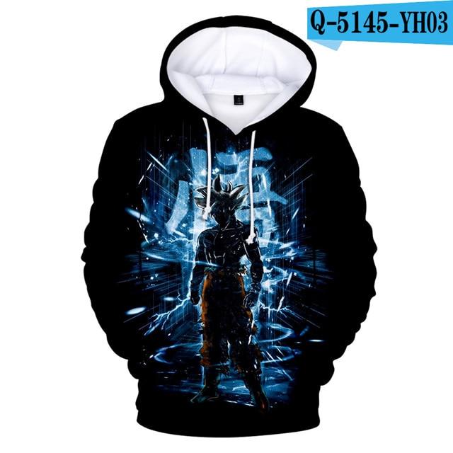 3 To 14 Years Kids Dragon Ball Hoodies Sweatshirts Boys Girls 3D Brand Sweatshirt Dragonball Z Goku Hoodies Children Clothing