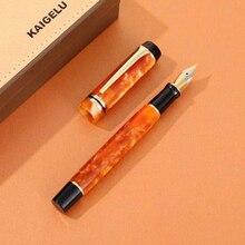 Новый Kaigelu 316 целлулоид перьевая ручка, красивый Мрамор узоры иридия EF/F/M чернильная ручка Nib писать подарочные ручки для офиса Бизнес