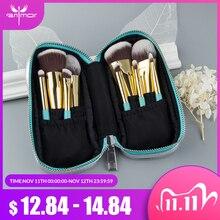 Anmor 9 個ミニソフトメイクブラシセットキットポータブル歌舞伎ブラシメイク化粧品旅行バッグ pincel maquiagem
