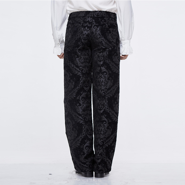 Devil Fashion Men Steampunk Retro Long Trousers Victorian Style Casual Embroidery Pants Gothic Punk Party Formal Wide Leg Pants 16