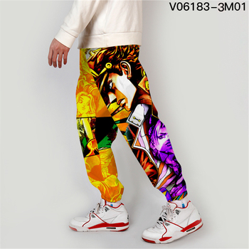 Jojo Bizarre Adventure Jogger Men Streetwear Spring Autumn Sweatpants Anime Casual Trackpants Men Harajuku Pants Fashion Loose 5