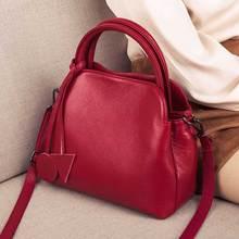 Cow Leather Shell Bag Lady luxury Shoulder CrossBody
