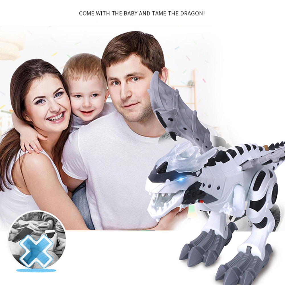Model Dinosaur Toy Movement Battery-Powered Walking Electronic Robot Kids with Flashing-Lights