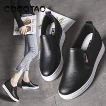 White Shoe Women In The Summer Of 2019 With Joker Increased Within A Pedal Breathable Bottom Thick Recreational Lazy Shoes25