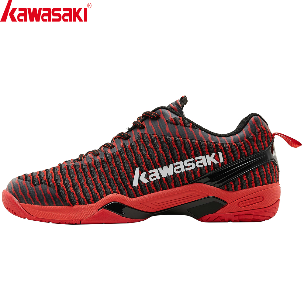 Kawasaki Badminton Shoes Men Breathable Mesh Sports  Sneakers Anti-Slippery Comfortable Black Shoes K-525