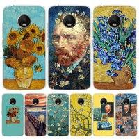 Funda de teléfono con pinturas de Van Gogh para Moto, G8, G7, G6, G5, G4, E6, E5, E4, Power Plus, Play One, Macro Vision Cov