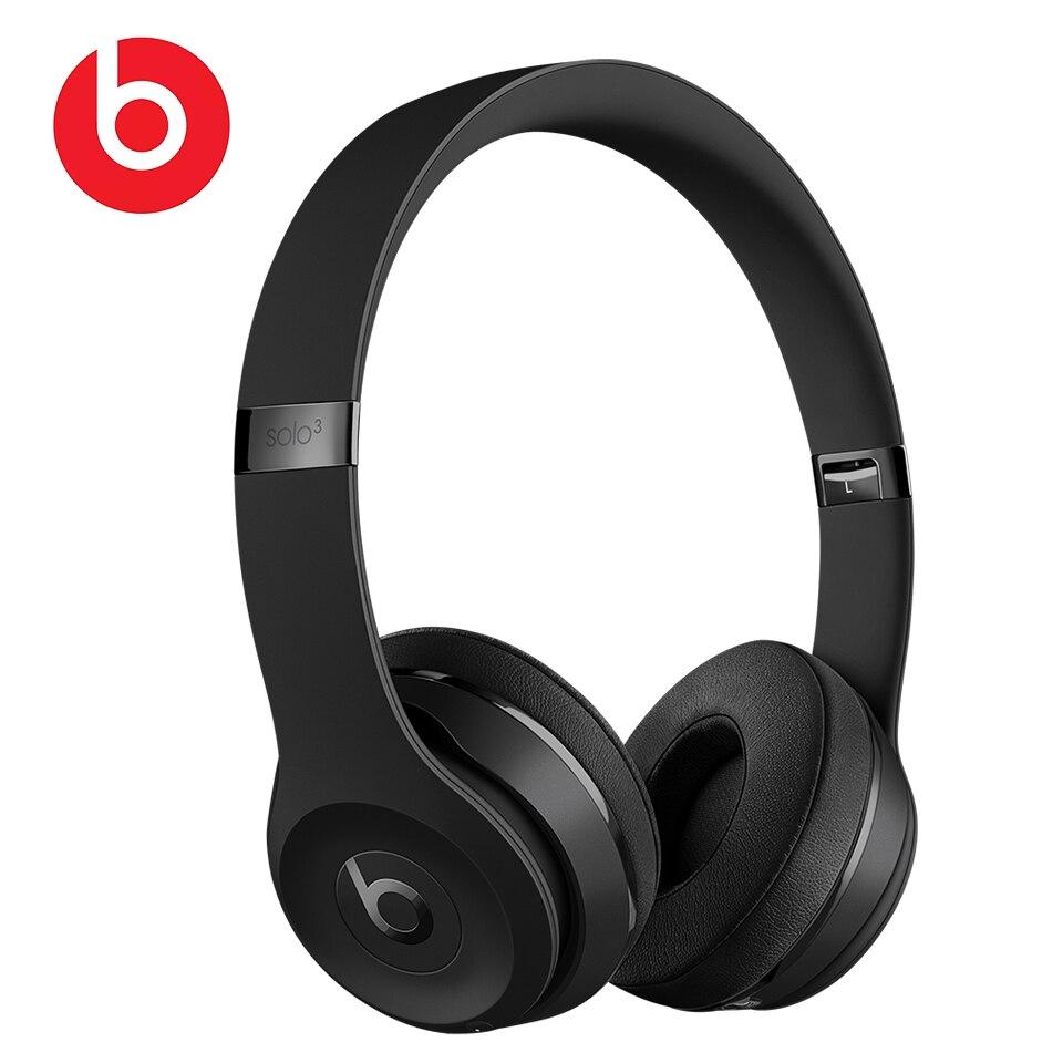 Beats solo 3 on-ear sem fio bluetooth fones de ouvido jogos esporte fone de ouvido graves profundos fone de ouvido mãos livres com microfone batidas por dre solo3