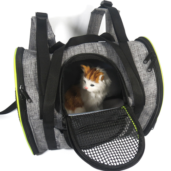 New Breathable Pet Dog Cat Carrier Travel Backpack Pet Carrier Bag Folding Dog Cat Outdoor Bag Portable Shoulder Bag Pet Supplie