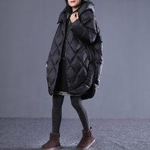 Korean Cocoon Coat Women Winter Jacket Hooded Parka Long Outwear Plus Size Padde