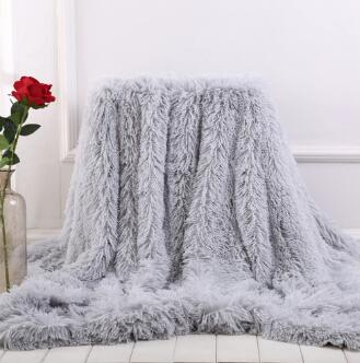 Soft Fur Throw Blanket on the Couch Long Shaggy Fuzzy Fur Faux Bed Sofa Blankets Warm Cozy With Fluffy fur bay window blanket