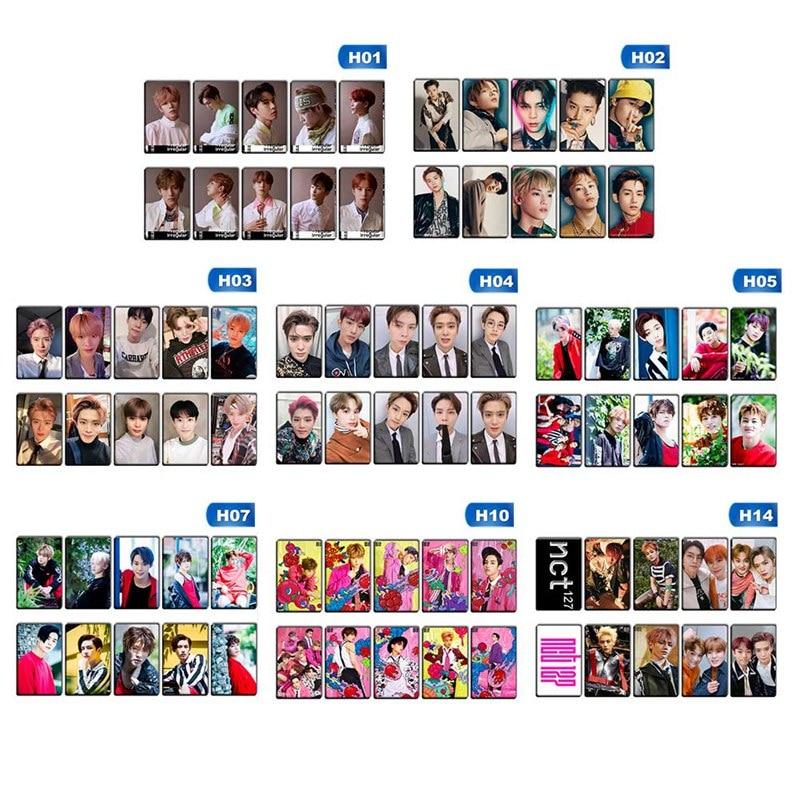 10Pcs/Lot K-POP NCT 127 Album Self Made Autograph Photocard DIY Paper Cards Poster