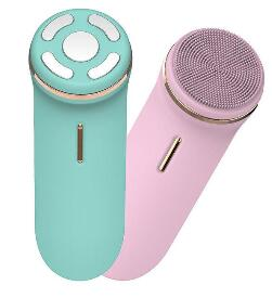 Face Cleansing Brush Instrument Beauty Instrument Ems  Iontophoresis Multi-function Electric Silicone Sonic