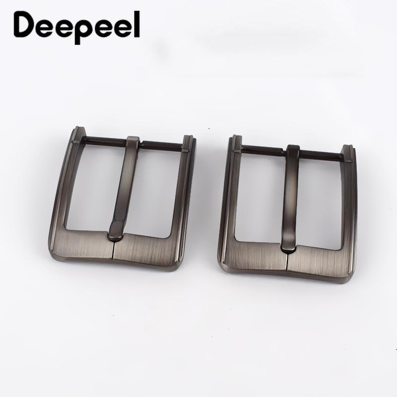 Deepeel 2pcs Brush Matte Belt Buckles Metal Pin Buckle For Belt 38-39mm Belts Replacement Belt Head Jeans Apparel Accessories