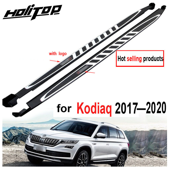 Running board side step nerf bar para Skoda Kodiaq 2017 2018 2019 2020, suministrado por la fábrica ISO9001, recomendado, precio de promoción