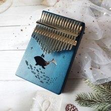 Kalimba-Piano à pouces de 17 touches de haute qualité, corps en bois d'acacia, acajou, Instruments musicaux, boîte à musique créative