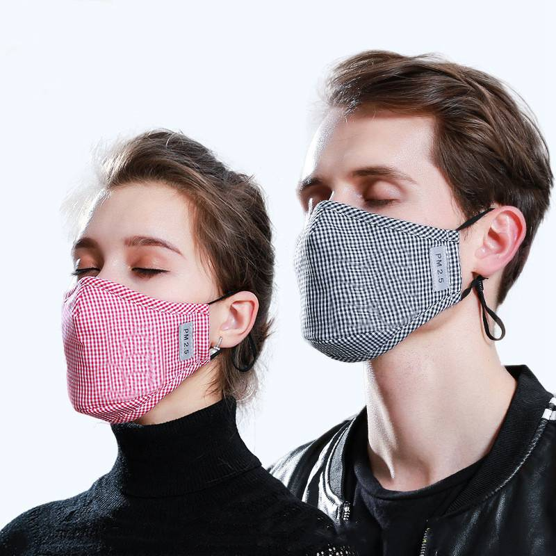 Colorful Anti PM2.5 Cotton Breathable Mouth Mask Anti-dust Protective Healthy Face Masks Activated Carbon Filter Paper