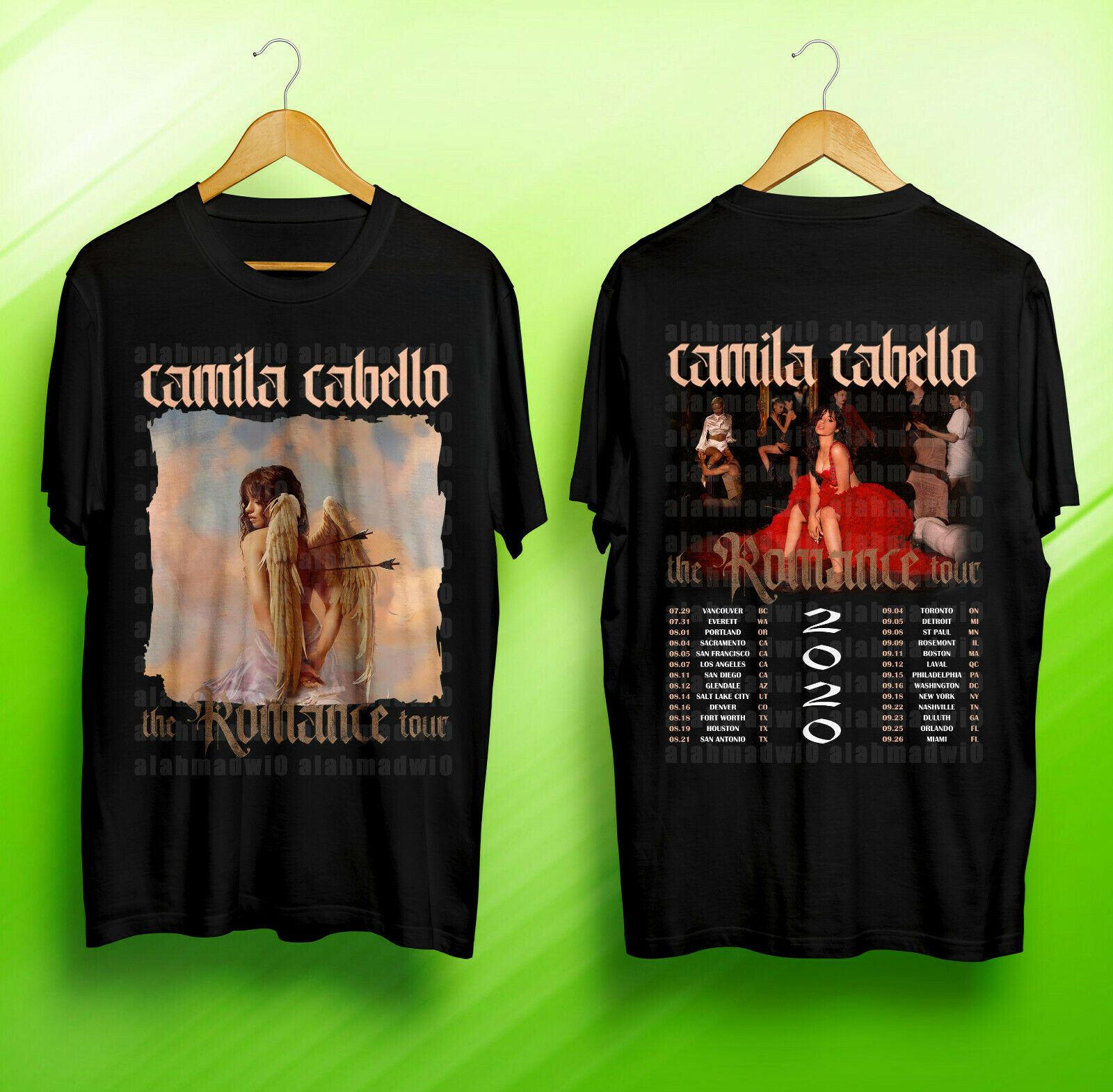 Camila Cabello The Romance North American Tour 2020 Black Tshirt