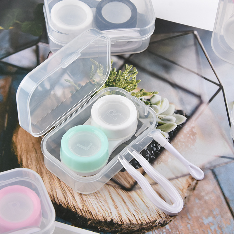 Contact Lens Case Good Quality Contact PP Lens Box Thickened Material Contact Lens Partner Box