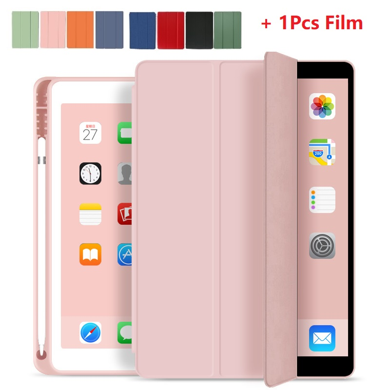 For iPad 10 2 7th Generation Case with Pencil Holder for iPad 2019 10 2 Slim