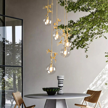 Modern led pendeant lights amber clear balls lamp for Living Room Bedroom decoration luxury hanging lamp garden light fixtures