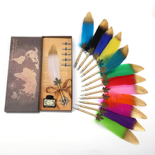 Exquisite even is the feather pen British style pen, send his girlfriend colleagues teacher gifts